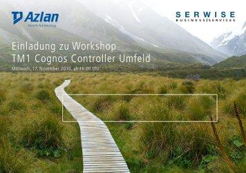 Einladung zu Workshop TM1 Cognos Controller Umfeld - Serwise