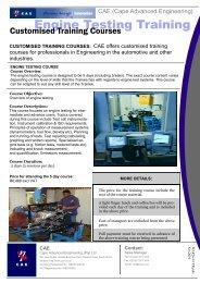training brochure - Cape Advanced Engineering