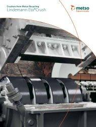 Crushers from Metso Recycling Lindemann Eta®Crush