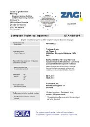 European Technical Approval ETA-08/0094 - Friulsider