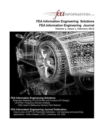FEA Information Engineering Solutions Journal ... - FEA Publications
