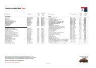 Zubehör-Preisliste Swift Sport - Garage Ruf AG