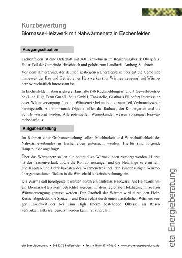 Kurzanalyse (Text) - Eschenfelden