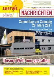 Energienachrichten Kärnten 1/2011 hier downloaden - SOLARier