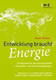 Erfolgsfaktoren für Energieprojekte in Schwellen - Informationsbüro ...
