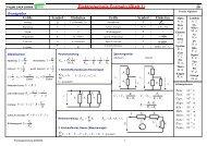 Elektrotechnik Formeln (Blatt 1) ∑ ∑ ∑ - HTL Wien 10