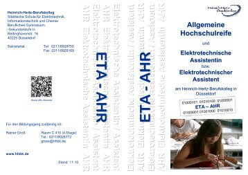 ETA AHR 11.2010 - Heinrich-Hertz-Berufskolleg