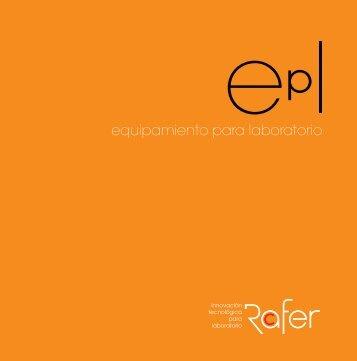 Catálogo Equipamiento de laboratorio - Comercial Rafer