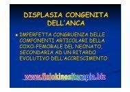 DISPLASIA CONGENITA DELL'ANCA - Fisiokinesiterapia.biz