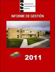 INFORME DE GESTIÓN INSTITUCIONAL 2011 - Instituto Nacional ...