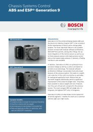 ABS and ESP® Generation 9 - Bosch - Kraftfahrzeugtechnik
