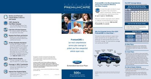 Ford Premium Care Esp Extended Service Plans Official