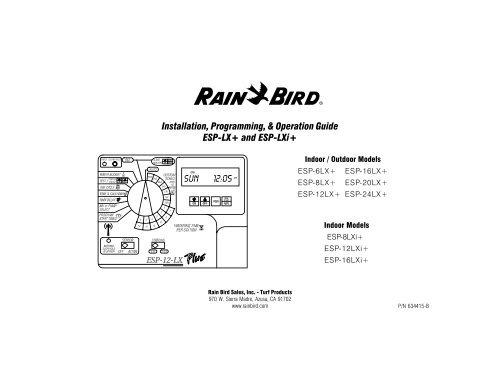 ESP-LX+ Manual - Rain Bird