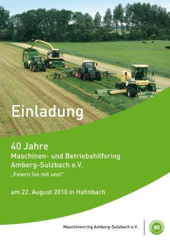 Einladung - Maschinen- und Betriebshilfsring Amberg-Sulzbach eV