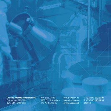 Download uw Private Label Brochure hier - Cobeco Pharma BV