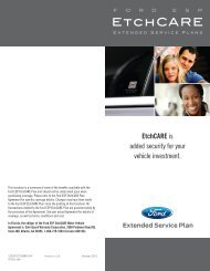 EtchCARE | Ford Extended Service Plan