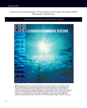 Improving Deepwater Production through Subsea ESP Booster ...