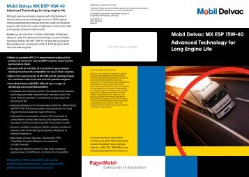 mobil delvac mx esp 15w-40 pdf