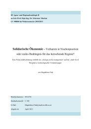 Solidarische Ökonomie – Verharren in ... - Premium Cola