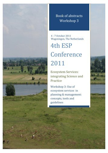 Book of abstracts - Workshop 3 - ESP Conference