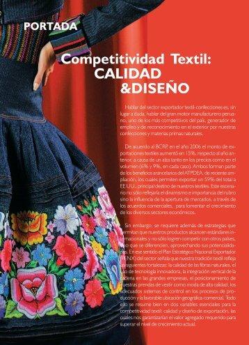 Competitividad Textil: CALIDAD &DISEÑO - ComexPerú