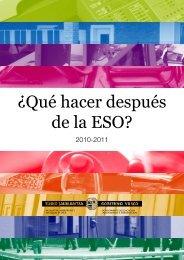 y después de la e.s.o. - Euskadi.net