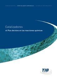 Catalizadores - TIB Chemicals AG