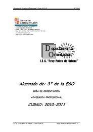 Alumnado de: 3º de la ESO - IES Fray Pedro de Urbina