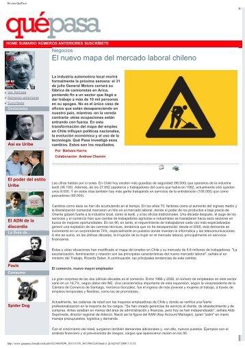 El nuevo mapa del mercado laboral chileno - Departamento de ...