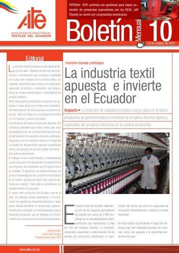 La industria textil apuesta e invierte en el Ecuador - AITE