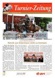TurnierZeitung SONNTAG, 11.09.2011