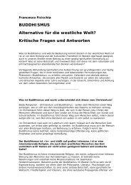 BUDDHISMUS Alternative für die westliche Welt? Kritische Fragen ...