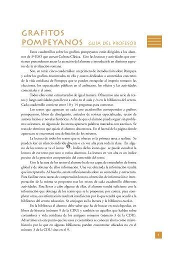 Grafitos Pompeyanos (guía del profesor) - Leer-e