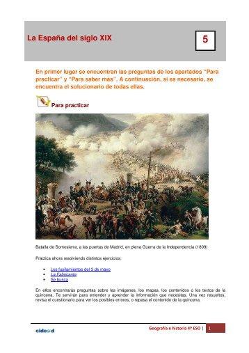 La España del siglo XIX 5 1