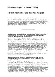 Ist ein westlicher Buddhismus möglich?