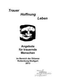 Trauer - Hoffnung - Leben 2013 (179,7 kB) - Klinikseelsorge Tübingen