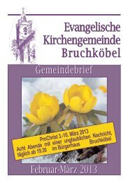Gemeindebrief Februar 2013 - Evangelische Kirche Bruchköbel