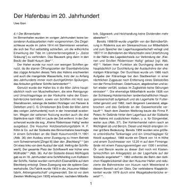 Der Hafenbau im 20. Jahrhundert - Husum-Stadtgeschichte