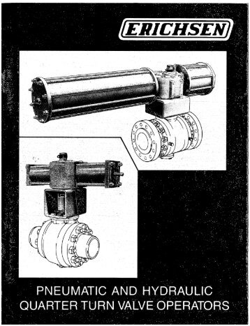 Erichsen Pneumatic Hydraulic Quarter Turn Valves - Emerson