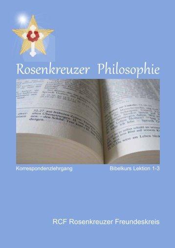 Esoterische Bibelinterpretation Lektion 1-3 - RCF Rosenkreuzer ...