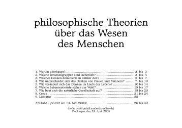 philosophische Theorien über das Wesen des Menschen