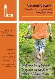 Gemeindebrief 3/2011 - Friedenskirche Husum