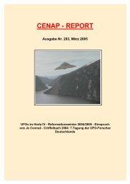CENAP - REPORT Ausgabe Nr. 293, März 2005 - Alien.de