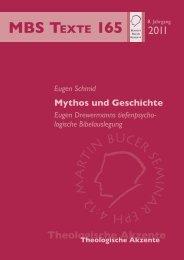 Mythos und Geschichte - Martin Bucer Seminar