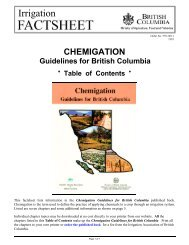 Chemigation Guidelines for British Columbia - Ministry of Agriculture ...