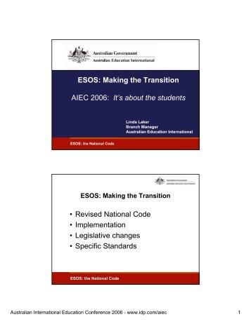 Esos Australian International Education Conference