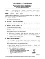 saanich peninsula water commission - Capital Regional District