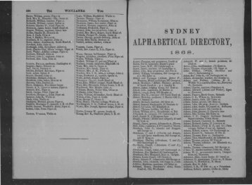 ALPHABETICAL DIRECTORY, - PhotosAU