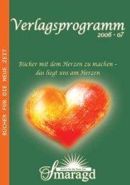 BÜCHER FÜR DIE NEUE ZEIT - im Smaragd Verlag