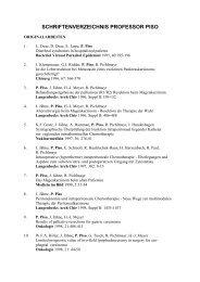 Schriftenverzeichnis Professor Piso Barmherzige Brüder Regensburg